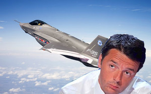 Renzi e gli F35