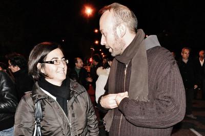il frate francesco zecca alla manifestazione per l'ambiente a taranto il 19 dicembre 2014