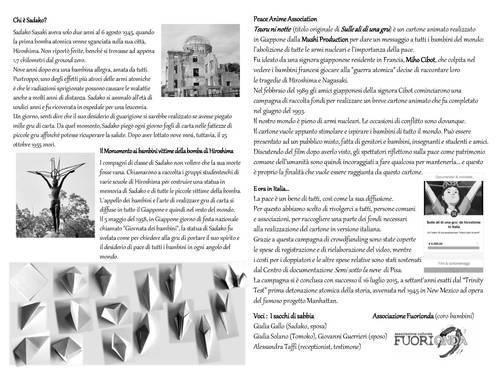 Booklet Sulle ali di una gru le pagine interne