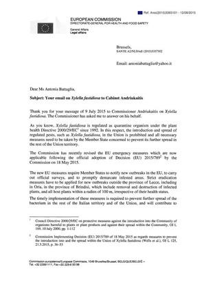 lettera commissione europea