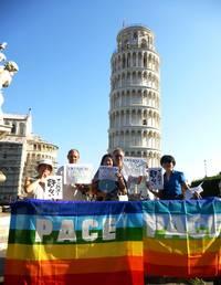 イタリアのピサ、そしてミラノからも、安保法制にNO!