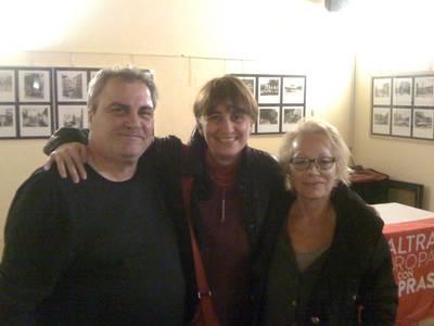Con Daniele Biacchessi e Tiziana Pesce...sempre uniti nei nostri ideali per un mondo più giusto, più libero e vero