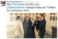 Il Sottosegretario agli Esteri Benedetto Della Vedova ha ricevuto Rete Disarmo sul tema dell'export di armamenti