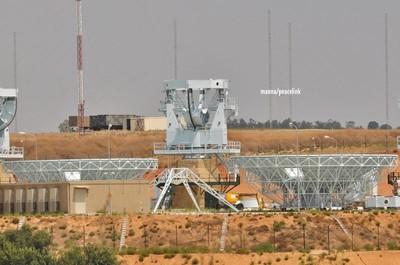Le antenne del Muos nella base americana di Niscemi