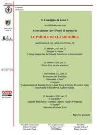 Associazione Arci Ponti di memoria - Le parole della memoria, 2015