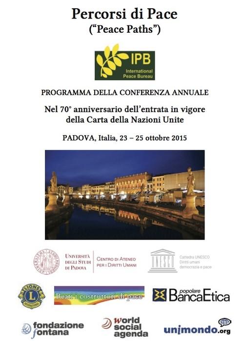 Peace Paths Padova 23-25 ottobre