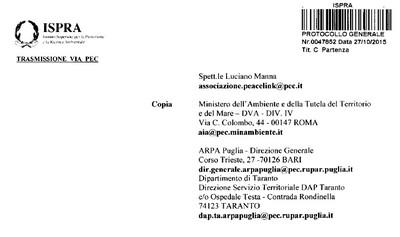 Ispra risponde a Peacelink