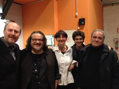 Con Cisco (Stefano Bellotti), Daniele Biacchessi, Gianmarco Pisa, Fabrizio Cracolici - Rassegna LE PAROLE DELLA MEMORIA, MILANO 2015... insieme per COSTRUIRE PONTI