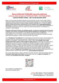 Banco Editoriale PAOLINE (seconda edizione)