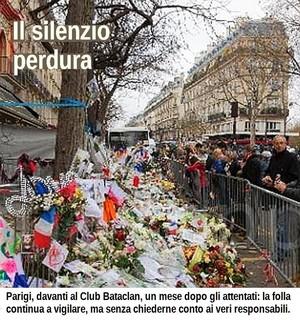 Un rassemblement devant le Bataclan un mois après les attentats de Paris