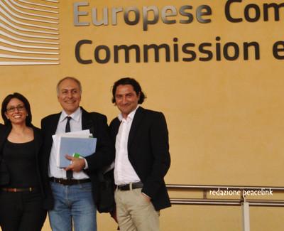 Antonia Battaglia, Alessandro Marescotti e Luciano Manna in Commissione Europea
