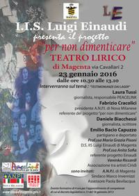 Ponti di memoria tra narratori e testimoni di pace - Teatro Lirico di Magenta
