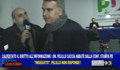 Il giornalista Luigi Abbate e l'onorevole Pelillo
