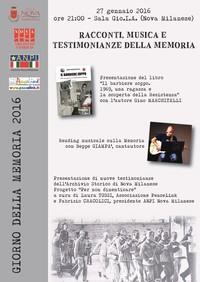Racconti, Musica e Testimonianze della Memoria