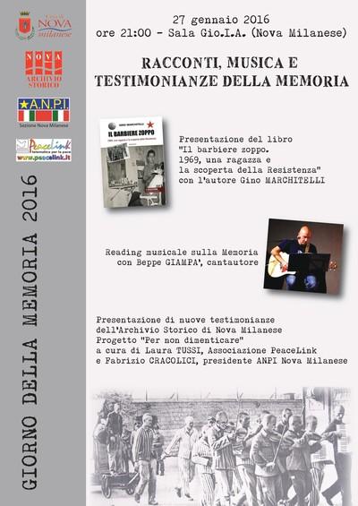 Giorno della Memoria - Nova Milanese 2016