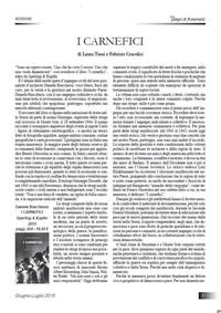 """Tempi di Fraternità - Recensione a """"I carnefici"""" di Daniele Biacchessi"""