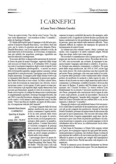 """Recensione al Libro """"I carnefici"""" di Daniele Biacchessi"""