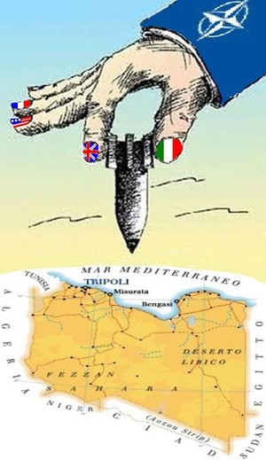 Italia e i suoi partner della NATO bombardano la Libia.