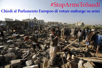 Rete Disarmo ed ENAAT: i ministri degli Esteri UE sospendano le forniture di armi all'Arabia Saudita