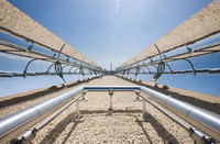 Sezione specchi dell'impianto solare di Priolo Gargallo (SR)
