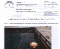 Sversamento di gasolio dalla portaerei Cavour