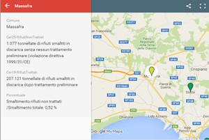 mappa open data su discariche italiane