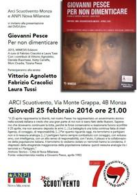 Giovanni Pesce. Per non dimenticare con Vittorio Agnoletto, Fabrizio Cracolici, Laura Tussi