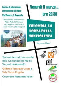 11-3-2016 Colombia, la forza della nonviolenza