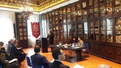 Opening speech nella sala Azzurra della Scuola Normale Superiore di Pisa