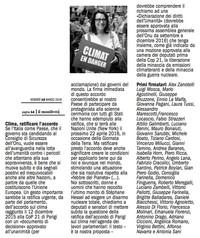 Il Manifesto - Ratificare l'accordo di Parigi
