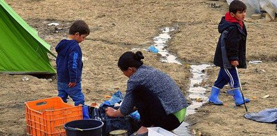 Migranti nel campo di Idomeni