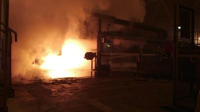 L'incendio sprigionato nella colata continua nr1 dell'Ilva di Taranto