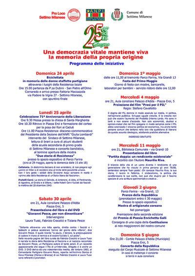 """Presentazione Libro """"Giovanni Pesce. Per non dimenticare"""" con Daniele Biacchessi e Tiziana Pesce a SETTIMO MILANESE (Milano)"""