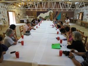 Incontro delegazione e famiglia di Berta Cáceres (Foto G. Trucchi /Rel-UITA)