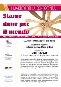 Giustizia e legalità nell'area metropolitana di Bari