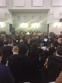 Inizia processo all'ILVA con la presenza del pubblico: aula Aslessandrini, Tribunale di Taranto, 17 maggio 2016