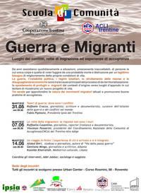 Guerre e Migranti - incontri su rotte migranti e accoglienza
