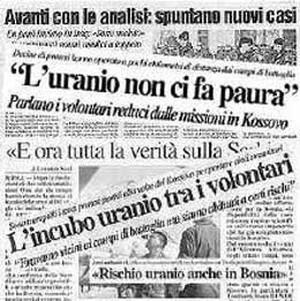 Uranio impoverito, i giornali di sedici anni fa