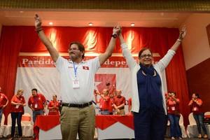 Callejas e Granera nella convention Pli (Foto Confidencial)