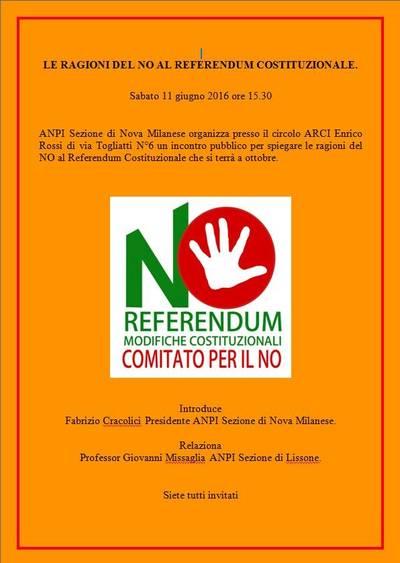 Referendum Costituzionale - Le ragioni del NO