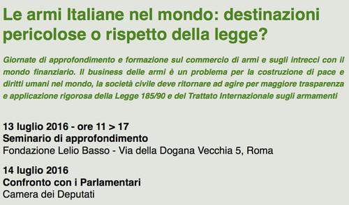 Le armi Italiane nel mondo: destinazioni pericolose o rispetto della legge?
