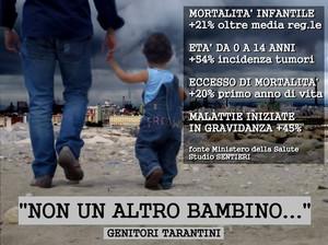 Un manifesto della campagna di sensibilizzazione di alcuni genitori tarantini