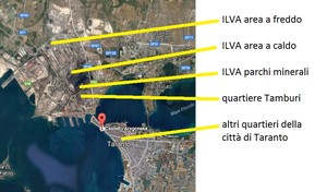 Mappa satellitare di Taranto