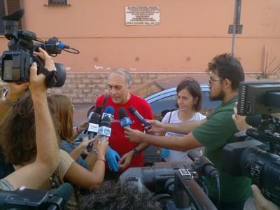 La conferenza stampa al quartiere Tamburi di Taranto del 14 settembre 2016