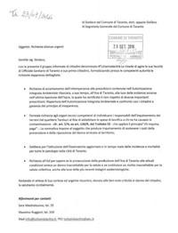 Report sit-in al Comune organizzato da Tuttamialacittà.  Firmate e consegnate istanze urgenti al Sindaco di Taranto