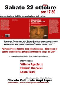 Giovanni Pesce per la Nuova Resistenza - Con Vittorio Agnoletto, Fabrizio Cracolici, Laura Tussi