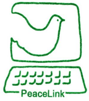 Il logo di PeaceLink del 1991