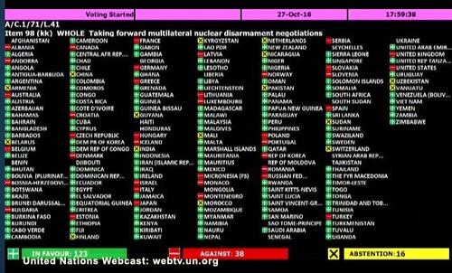 Voto alle Nazinoi Unite su Risoluzione L41