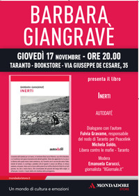 """Il 17 novembre sarà presentato """"Inerti"""", il romanzo sulle ecomafie di Barbara Giangravè."""