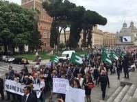 Manifestazione organizzata dal Movimento europeo e dalla Gioventù Federalista Europea, Roma 8 maggio 2016
